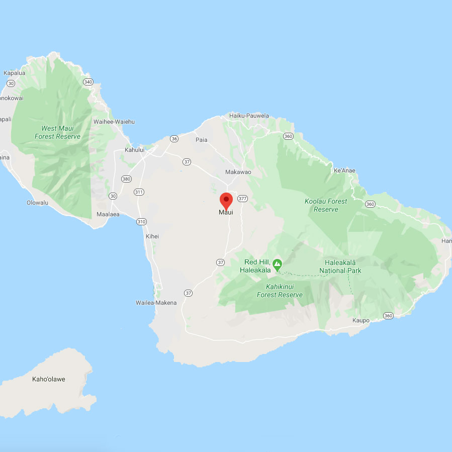 Map of Maui and Area Served