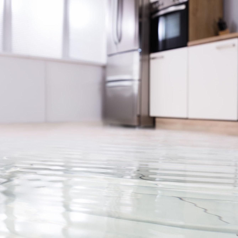 flooded kitchen floor